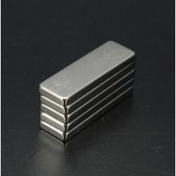 N35 Neodymowy Magnes Silny Prostopadłościan Blok  30 * 10 * 3mm 5szt