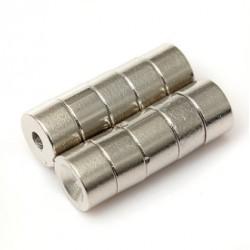 N50 Neodymowy Magnes Silny Dysk Stożkowy Z 2mm Otworem 7 * 4mm 10szt