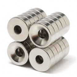 N35 Neodymowy Magnes Silny Pierścień Stożkowy Z 5mm Otworem 15 * 5mm 20szt