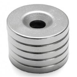 N35 Neodymowy Magnes Silny Okrągły Stożkowy Pierścień 20 * 3mm Z 5mm Otworem 5szt