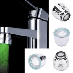 LED Light Temperature Sensor Kitchen Water Tap Faucet