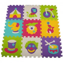 Dziecięca Wzór Zwierząt Puzzle Mata 9szt Zestaw