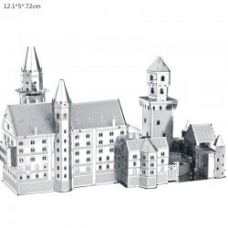 3D Neuschwanstein metalowe puzzle zestaw konstrukcyjny
