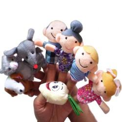 Bajkowe Marionetki Kukiełki Na Palce Zestaw 8szt