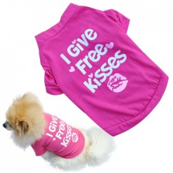 I give kisses Small Dogs Pets Wear |