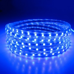 SMD 5050 AC 220V 60 LED Waterproof Flexible Led Strip Light & Power Plug