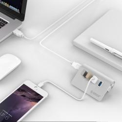Orico USB 3 Hub - hög hastighet - 4 portar - mikro extern USB-splitter
