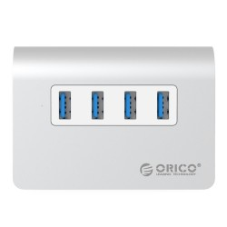 Orico USB 3 Hub - high speed - 4 ports - micro external usb splitter