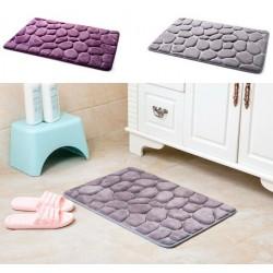 Coral Fleece Bathroom Memory Foam Rug Non-slip Floor Mat