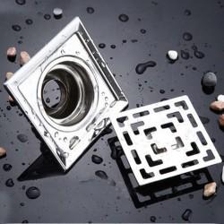 Cuadrado de acero inoxidable baño piso drenaje 10 cm * 10 cm