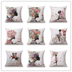 Nordic Style Pillowcase Cushion Cover Cotton 45 * 45cm