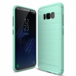 Cover de fibre de carbòne et cautchuc pour Samsung Galaxy S7 S7 Edge S8 S8 Plus