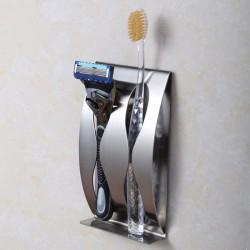 Stal Nierdzewna Ścienne Mocowanie Samoprzylepny Uchwyt Na Szczoteczkę Do Zębów