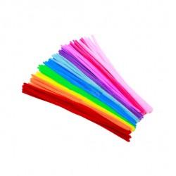 Materiałowe kordonki - dziecięca edukacyjna zabawka - kolorowe rurki 100 sztuk