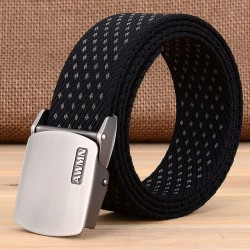 Pin Buckle Canvas Strap Men's Belt