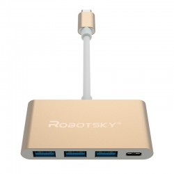 Robotsky UBS 3 Typ C auf USB 3 Hub Konverter Super Speed OTG Adapterkabel |