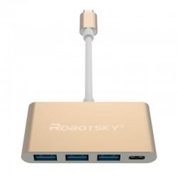 Robotsky UBS 31 Typ C do USB 30 USB-C Typ C HUB Konwerter Super pPędkość OTG Adapter Kabel dla MacB