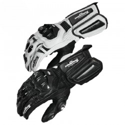 Carbon Fiber Leather Motorcycle Gloves