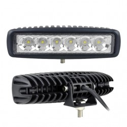 2pcs 6 Inch 18W LED Work Light for Indicators Motorcycle Driving Offroad Boat Car Tractor Truck 4x4 SUV ATV Spot Flood 12V