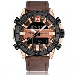 NAVIFORCE Luxury Fashion Leather Waterproof Quartz Men's Watch