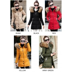 Winter Warm Hooded Slim Long Jacket