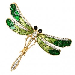 Rhinestone Dragonfly Brooch Pin