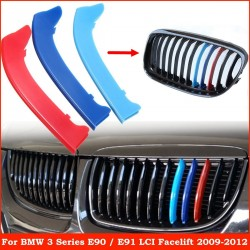 BMW 3er E90 E91 kühler grill streifen 3er Set