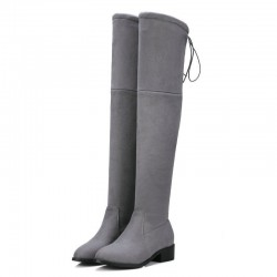 Low Heel Stretch Fabric Over The Knee Winter Boots