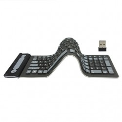 Elastyczny silikon - składana - bezprzewodowa - klawiatura z 107 klawiszami - rosyjska - Qwerty