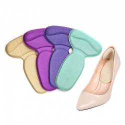 1Pair Soft Heel Cushions Inserts For Shoes Woman Soft Insole Foot Heel Pad Soft Pad Shoe Sticker Fee
