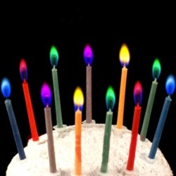 Colored Flame Birthday Cake Candles 6pcs