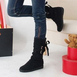 Warm Winter Leather Boots