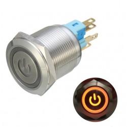 6 Pin 22mm 12V Led - metalowy przycisk zatrzaskowy