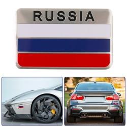 3D Aluminium Russland Flagge Auto Aufkleber