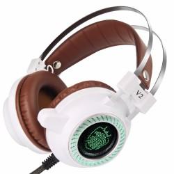 V2 Hi-Fi Stereo Headset LED Light With Microphone