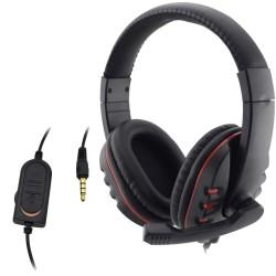PlayStation 4 Przewodowy 3.5mm Zestaw Słuchawkowy Mikrofon PC Słuchawki