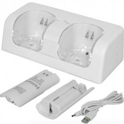 Wii Controller Dual USB Charger