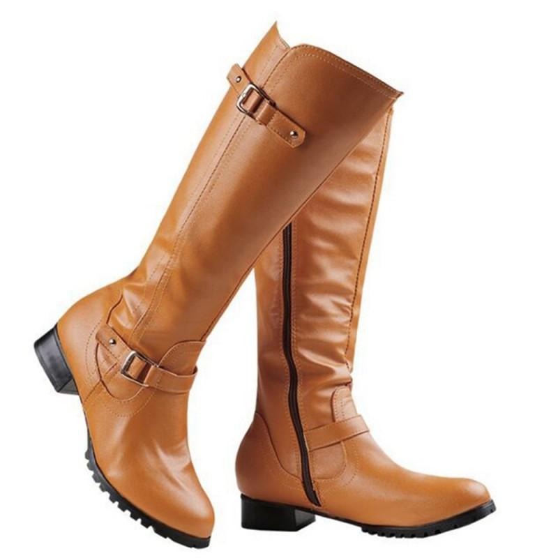 Goede Waterdichte Leren Hoge Hakken Lage hak schoenen   Store Aruba LF-96