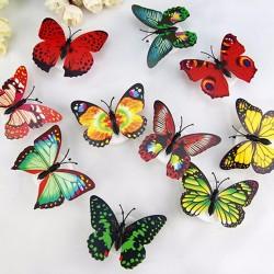 Kolorowe Motyle LED Lampka Nocna Ścienne Naklejki
