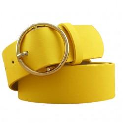 Gold Schnalle Ledergürtel