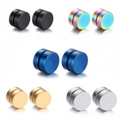 5 Pair Stainless Steel Magnetic Clip Earrings