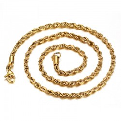 Stainless Steel Rope Chain Necklace