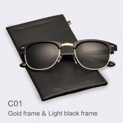 Klassische Halbmetall Polarisierte Sonnenbrille Unisex