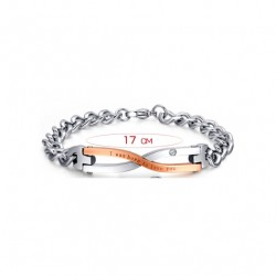 Edelstahl Paare Armband
