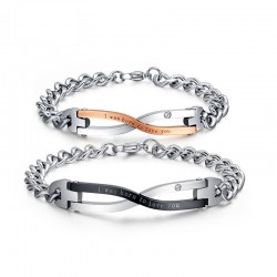 Stainless Steel Couples Bracelet