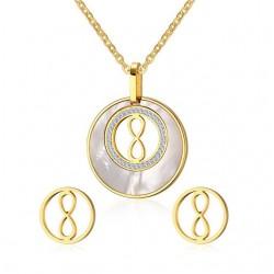 Set Gioielli Rotondi in Perla e Oro