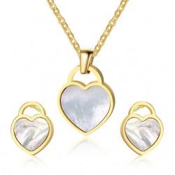 Set Joyas Corazón Collar y Pendientes