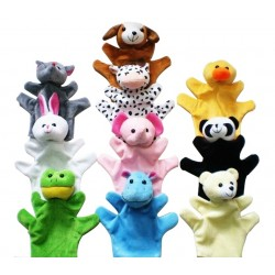 10 plush finger puppets - baby dolls