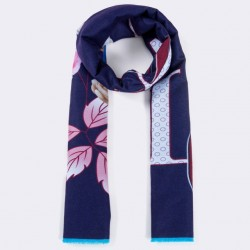 Beprinte Bandana Winter Sjaal