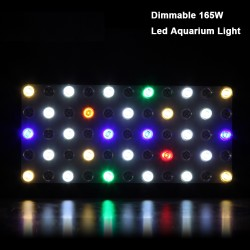 Dimmable 165W LED Aquarium Fish Tank Light Full Spectrum Grow Lamp
